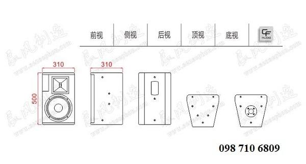 Bản thiết kế của Loa CF TQ 10