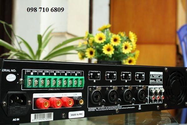 Mặt sau Amply DB LP-200T amply chia 5 vùng 200W