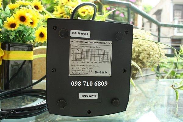 Thông số Micro chủ tọa DB LH-8000A