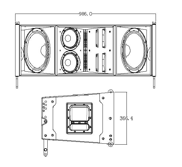 Mô hình Loa array CVR W-8B