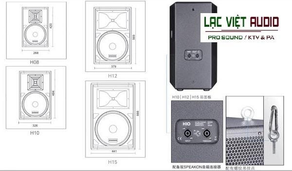 Chi tiết cấu tạo Loa Soundking H15
