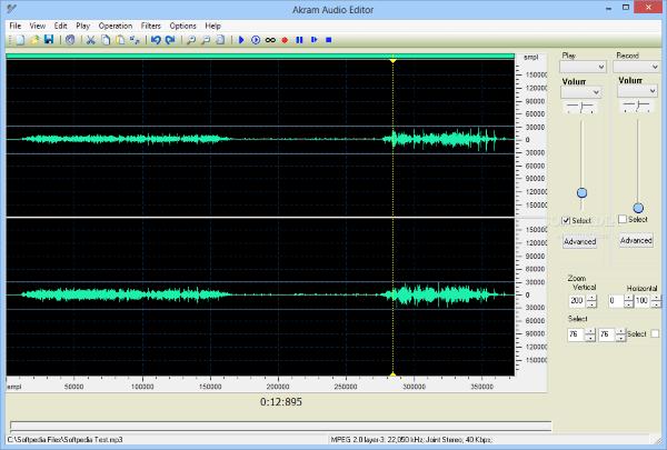 Ứng dụng chỉnh sửa nhạc Akram Audio Editor