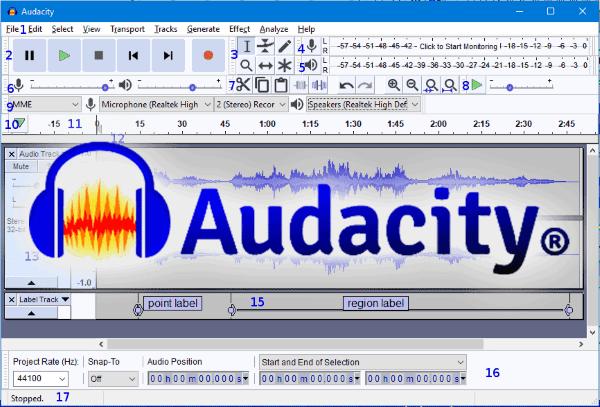 Phần mềm chỉnh sửa âm thanh miến phí Audacity
