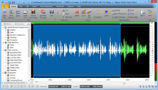 Phần mềm chỉnh sửa âm thanh miễn phí Music Editor Free