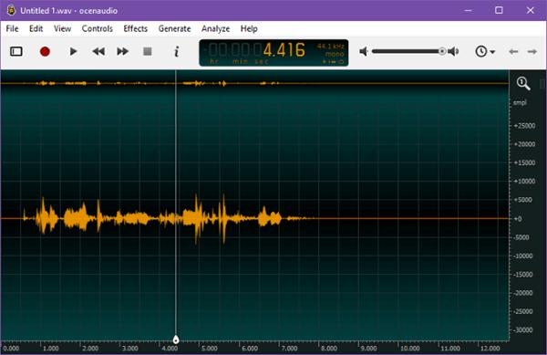 Ứng dụng chỉnh sửa âm thanh Ocenaudio