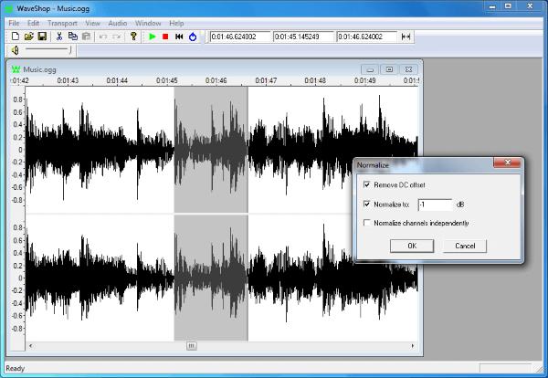 Phần mềm chỉnh sửa âm thanh WaveShop