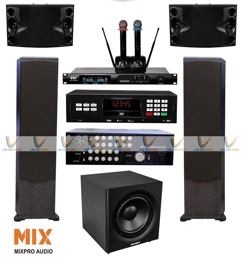 Khả năng ghép nố với nhiều dòng thiết bị là lợi thế lớn củaloa karaoke Mixpro